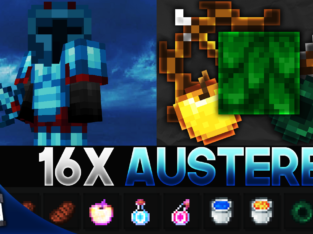 Austere [16x] MCPE PvP Texture Pack (FPS Friendly)