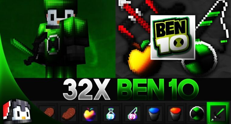 Ben 10 [32x] MCPE PvP Texture Pack (FPS Friendly)