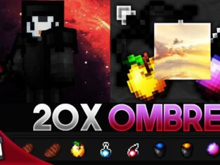 Ombré [20x] MCPE PvP Texture Pack (FPS Friendly)