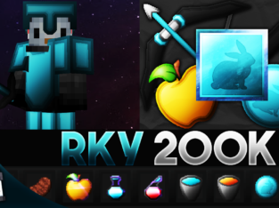 RKY 200K (Azure) [256x] MCPE PvP Texture Pack by